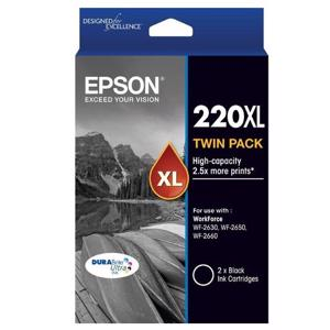 epson 220xl twin pack black ink cartridge