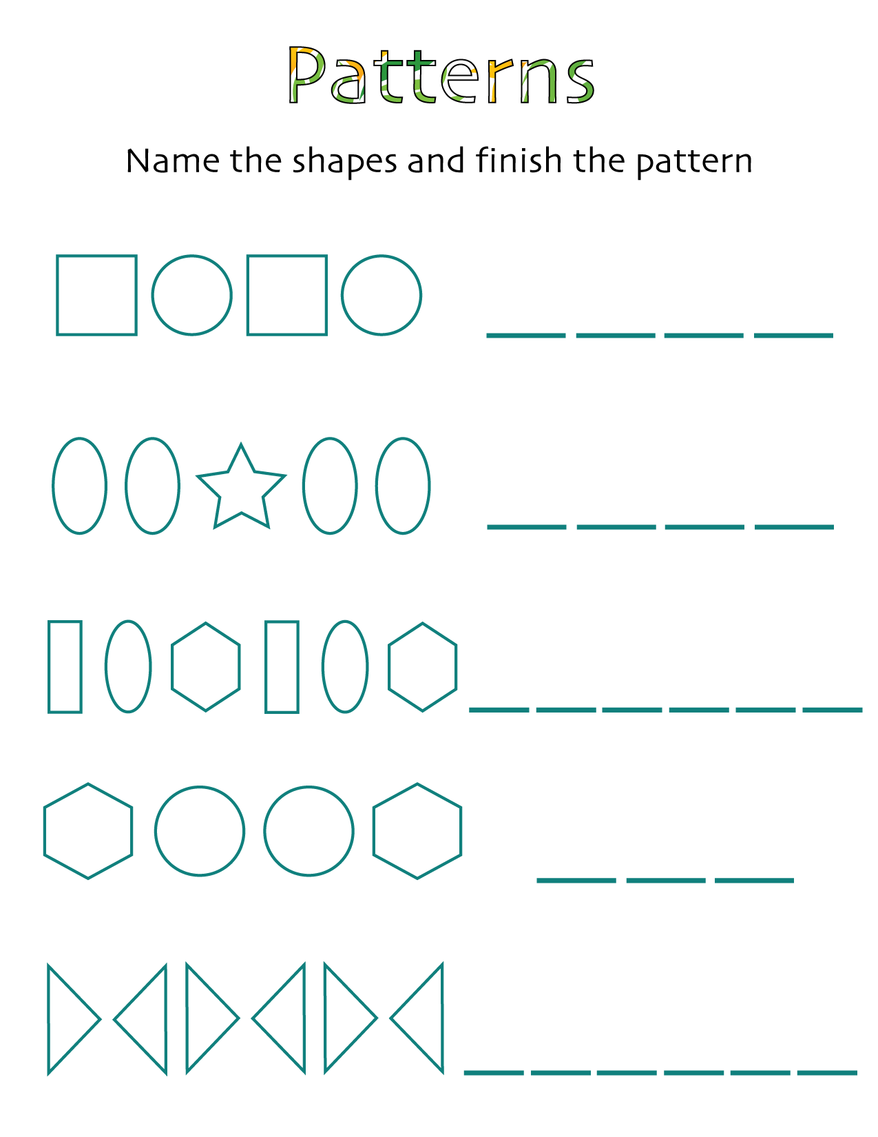 kindergarten geometry patterns