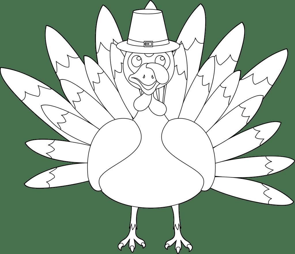 printable turkey template black and white
