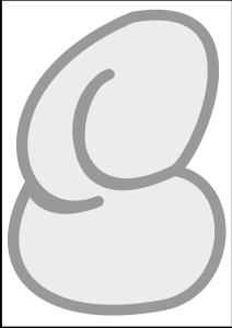 bubble letter 'S'