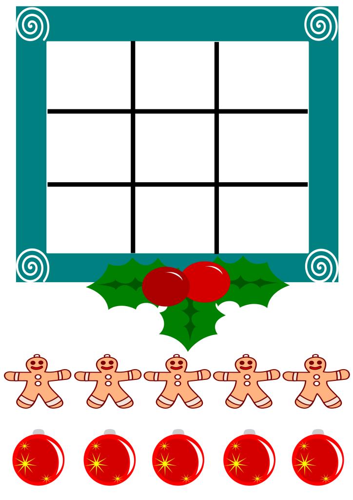 printable christmas games tic tac toe