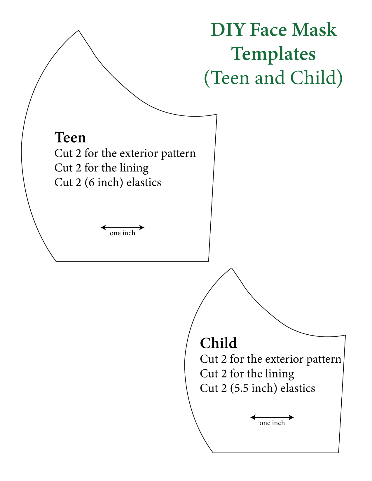 Teen and child templates