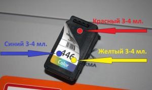Расположение цветов CL-446
