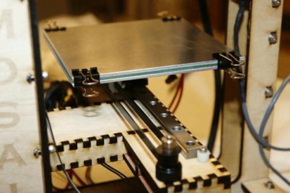 Установленная платформа 3D принтера