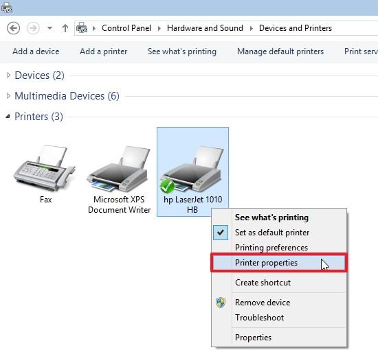 не печатает фото принтер