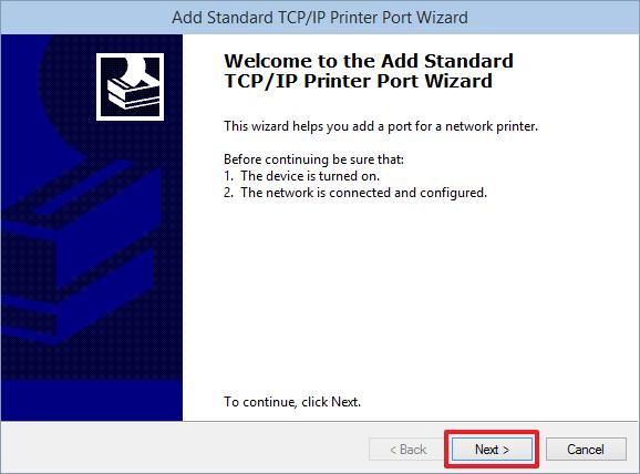 Добавляем Новый TCP-IP порт