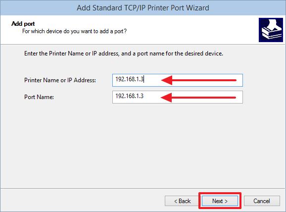 Задаем IP адрес