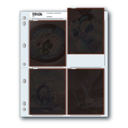45-4B Negative page with negatives inserted