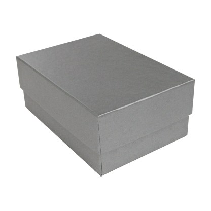 Silver 4x6 proof box, shown closed