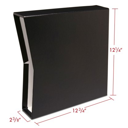 "Black 1.5""OB-slipcase with dimensions"