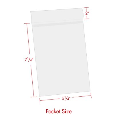 5x7 BOPP bag with dimensions