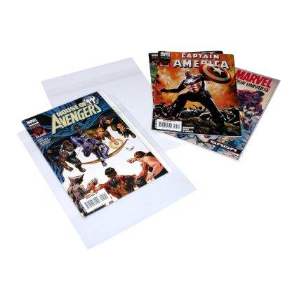 Comics BOPP bags shown with comics
