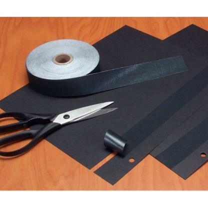 "1.25"" Black Self-Adhesive Linen Tape"