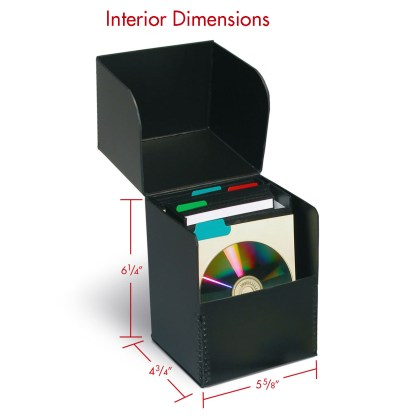 CD Fliptop box shown with dimensions