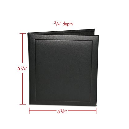 CD double folio with dimensions