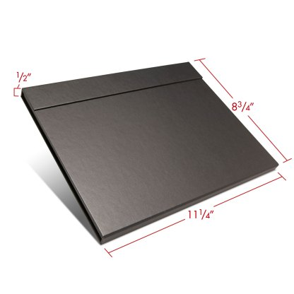Folio folder 8.5x11 closed with dimensions