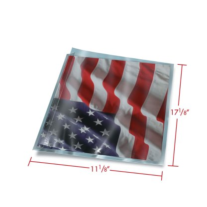 11x17 FoldFlap Sleeve with dimensions