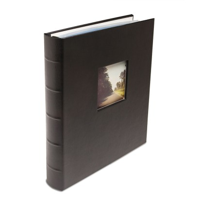 Black standard Gallery Leather album with window
