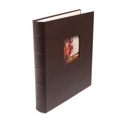 Brown standard Gallery Leather album