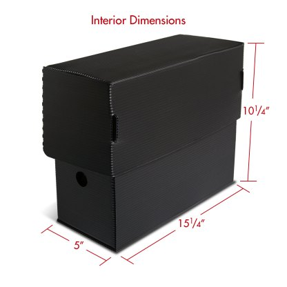 Legal size Micro-Perforated Document Box with dimensions