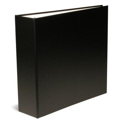 "Black 2.5"" oversize binder-shown closed"