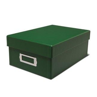 Green photo storage box-closed