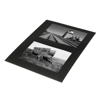 Black 8.5x11 cardstock insert