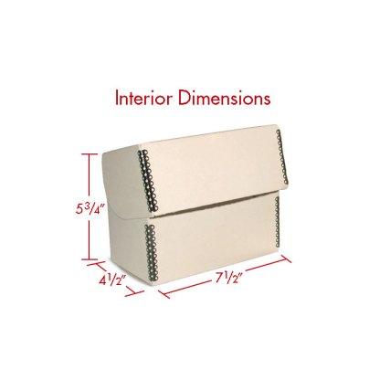 Tan 5x7 Flip Top box with dimensions