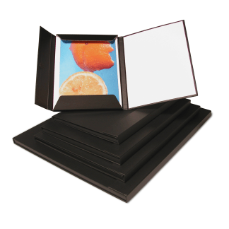 Magnetic folio folder with white insert