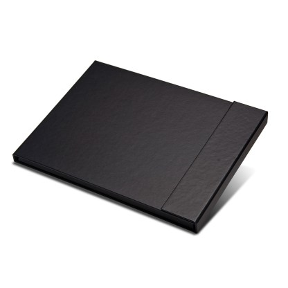 Magnetic folio folder shown closed