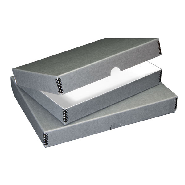 Lineco Drop-Front Storage Boxes Black 9 in x 12 in x 1 1//2 in.