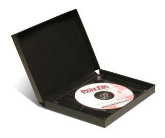 Single CD/DVD Clamshell Folio- black