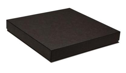 Black 8x8 press book box