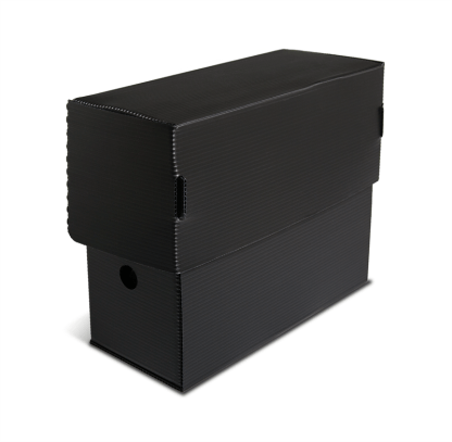 Black Micro-Perforated Legal Size Document Box