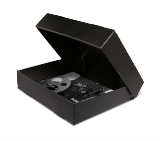 Micro-Perforated Black Clamshell Boxes