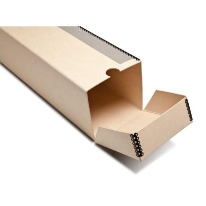 Tan Metal Edge Roll box- opened