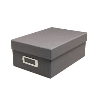 Gray two-piece photo box- closed