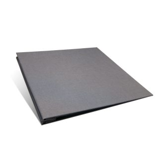 Gray 12x12 scrapbook -closed