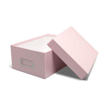 Pink photo box-opened