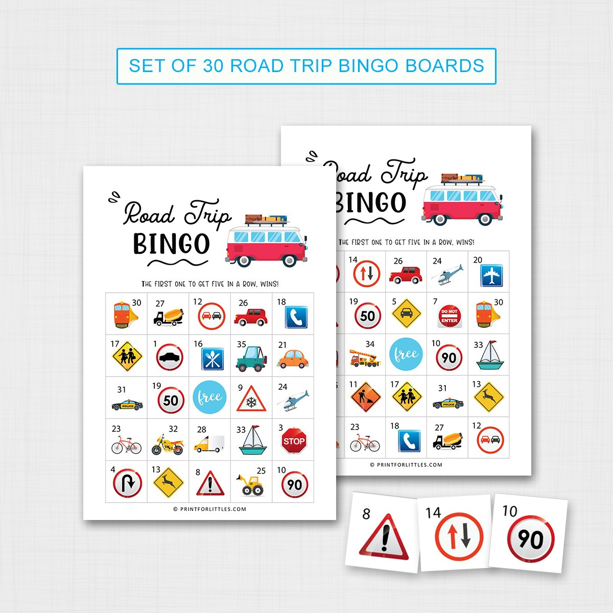 Printable Road Trip Bingo For Kids