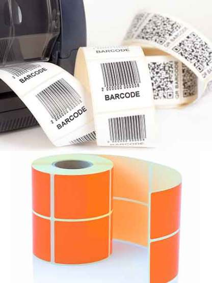 Blank Thermal Direct labels and Thermal transfer labels