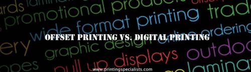 Offset Printing vs. Digital Printing