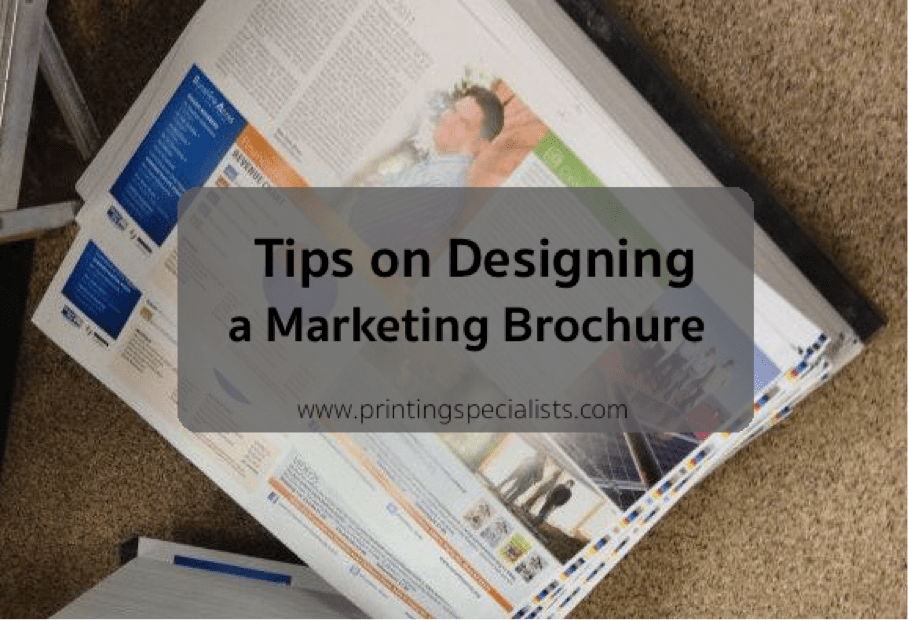 4 Tips on Designing a Marketing Brochure