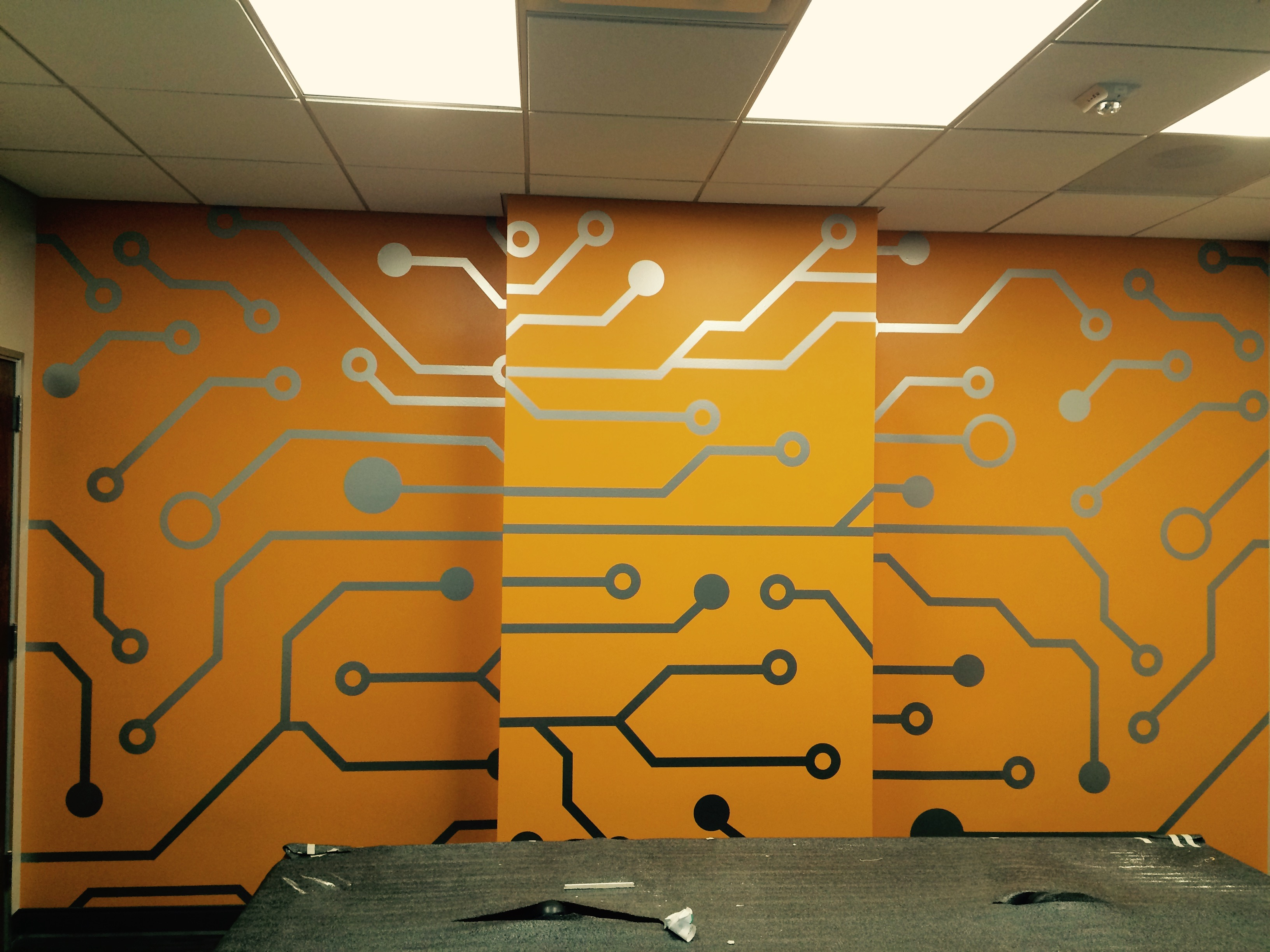 Silver cut vinyl wall graphics - Printing Specialists