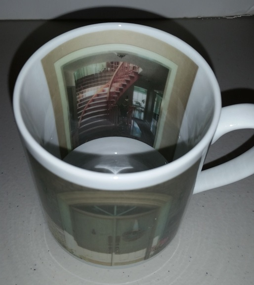 Inside Out Mug, printing front door and the front entrance