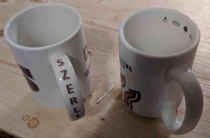 Jumbo Mug Printed Name On Handle also Inside Mug