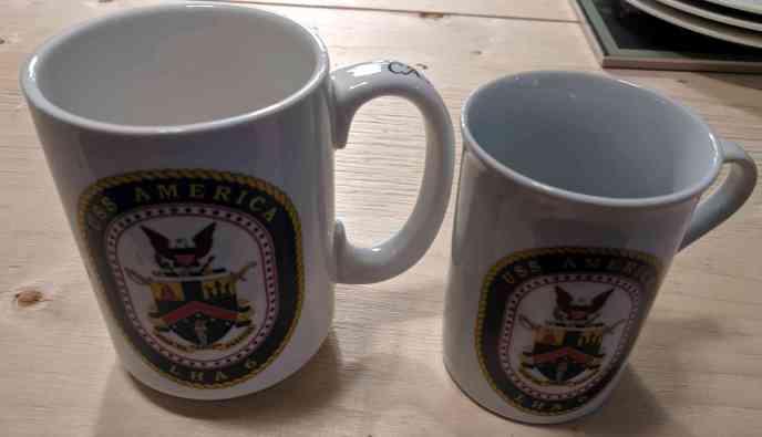 USS America Assault Ship Captains Printed Mug