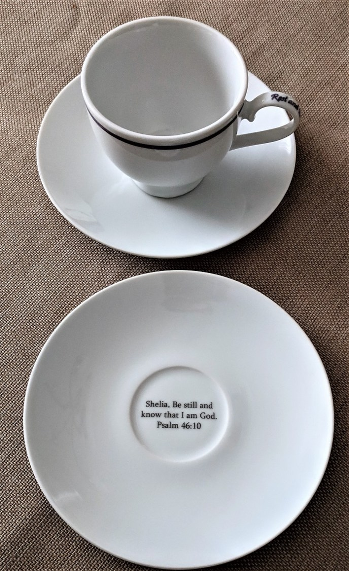 Personalized Be Still & Know That IAM GOD Printed Tea Cups
