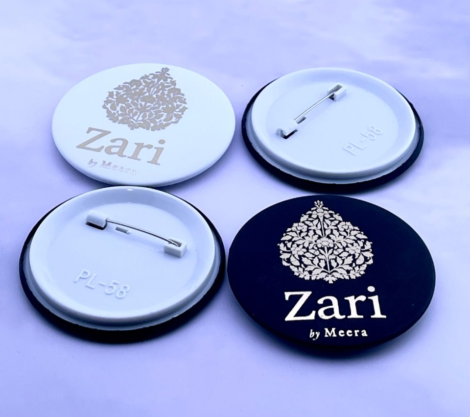 foiled pin badges