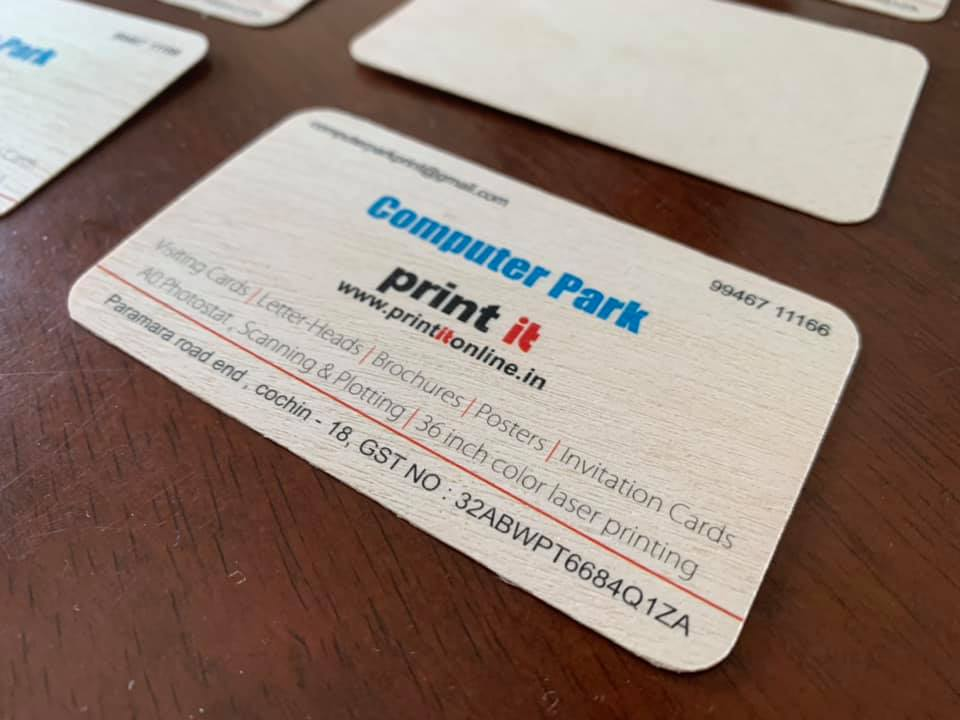 WOODEN PAPER BUSINESS CARDS